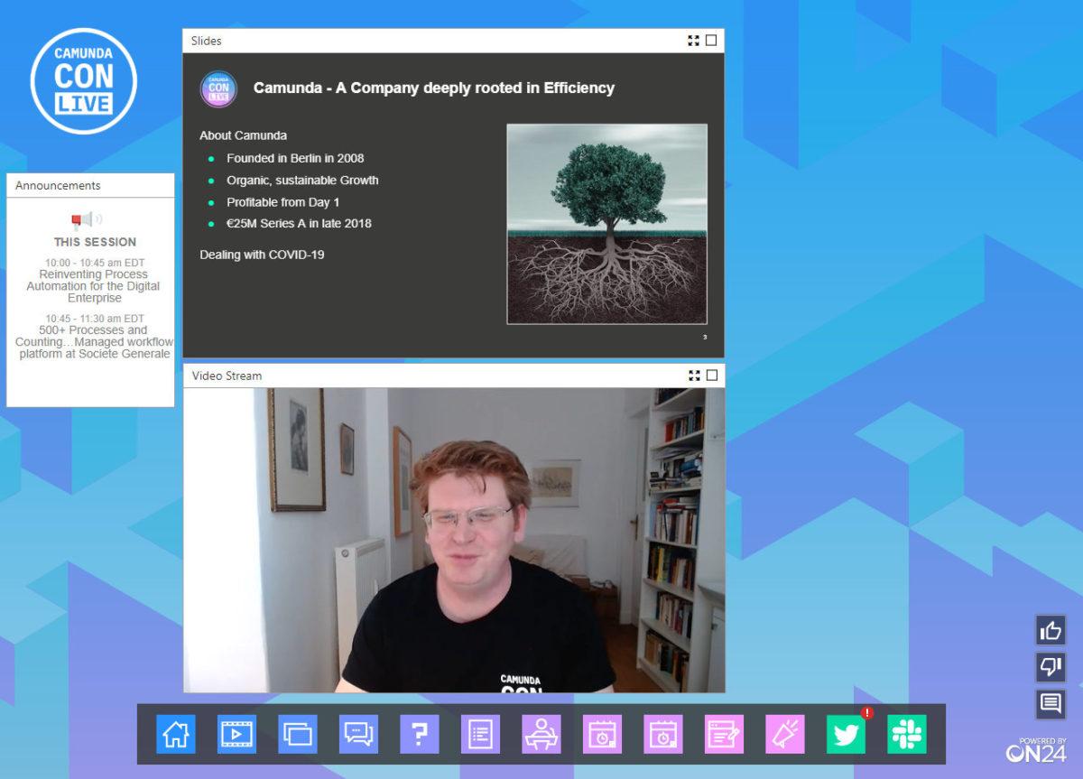 CamundaCon Live 2020 – Day 1: Jakob Freund keynote and customer presentations